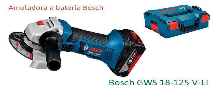 Amoladora Bosch GWS 18-125 V-LI