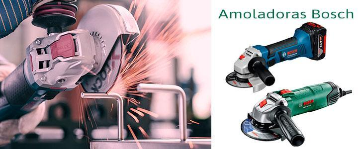 Amoladoras Bosch a batería y eléctricas