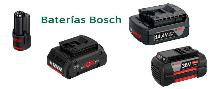 Baterías Bosch para taladros y herramientas, catálogo de precios