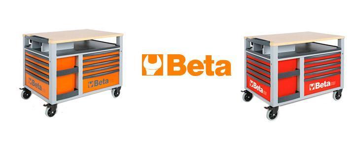Carro de herramientas Beta Supertank C28, calidad profesional con 10 cajones