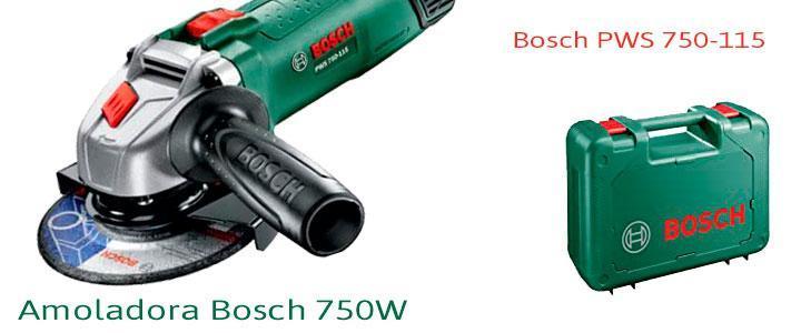 Amoladora Bosch PWS 750-115