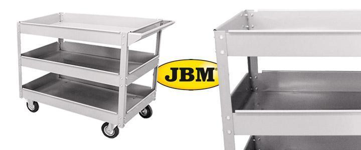 carro con 3 bandejas y ruedas marca JBM 52373