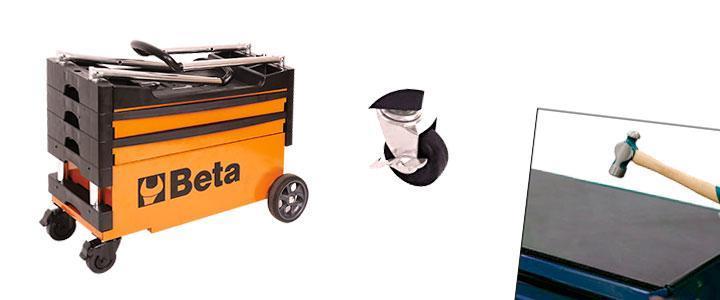 Carro de herramientas con ruedas