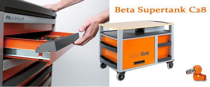Características y detalles del carro de taller Beta Supertank