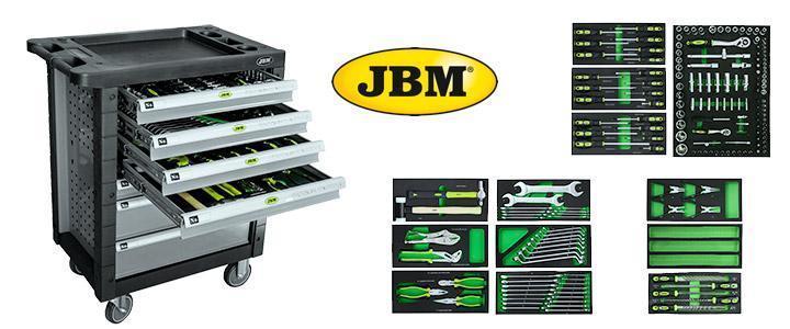 Carros de herramientas JBM completos y vacíos