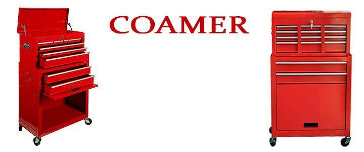 Carro de herramientas Coamer XTB-220 vacío y con 6 cajones + cajón grande