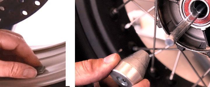 Contrapesos para ruedas y llantas y pasta para neumáticos