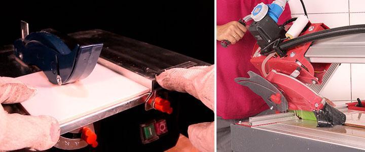 Cortadora de azulejos eléctrica gran formato y sierra para azulejos pequeña