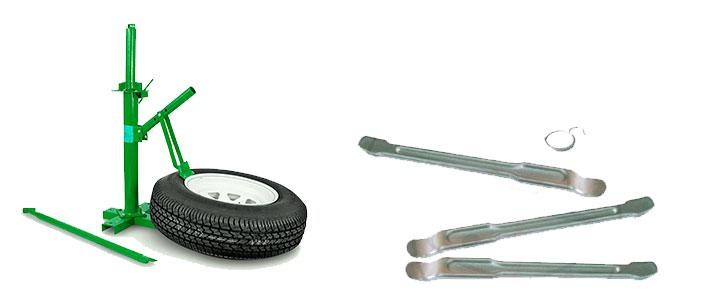 Desmontadoras de neumáticos, máquina para montar ruedas de vehículos (coches, motos, camiones)