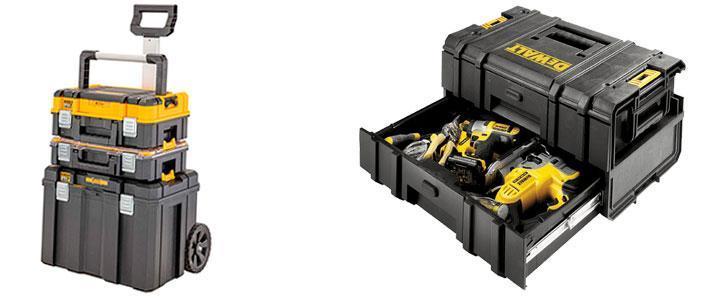 Cajas de herramientas DeWalt, caja porta herramientas Tstak, caja Toughsystem
