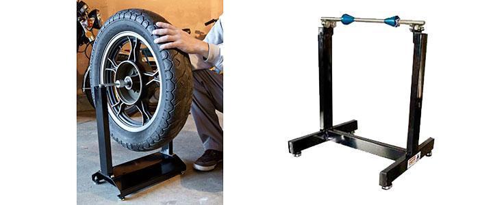 Equilibradora de ruedas moto, equilibrador manual para neumáticos