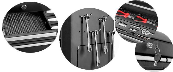 Características y detalles del carro de herramientas Green cut HC1075N