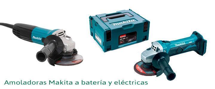 Amoladoras Makita a batería y eléctricas