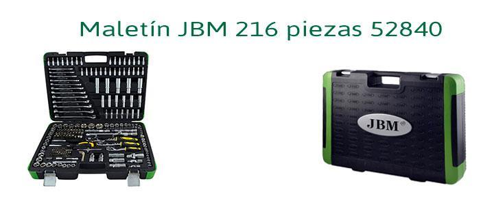 Maletín JBM 216 piezas 52840