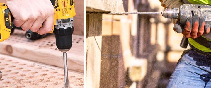 Marcas de taladros buenos para mampostería y madera