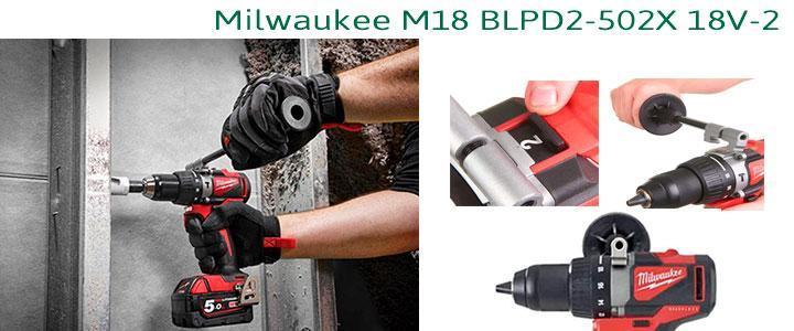 Taladro Milwaukee M18 BLPD2-502X 18V-2