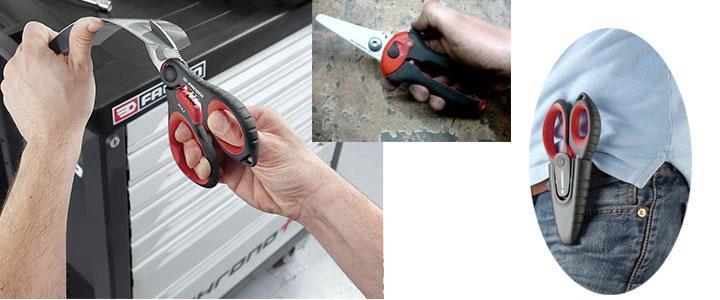 Tijeras de electicista de acero inoxidable con pelacables