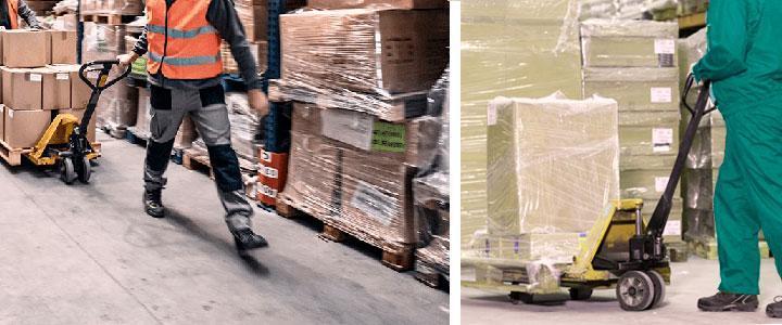 Transpaleta manual de tijera precio de venta barato con capacidad para 1000, 2000, 3000, 4000 y 5000 kg de carga